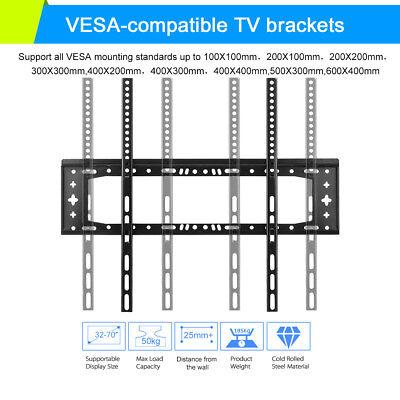 TV Wall Mount Bracket LCD LED Plasma Flat Slim 14 32 40 42 47 50 52 55 60 65 70 7