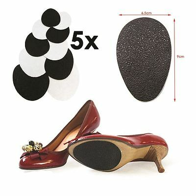 5Pairz of Self-Adhesive Anti-Slip Stick on Shoe Grip Pads Rubber Sole Protectors 6