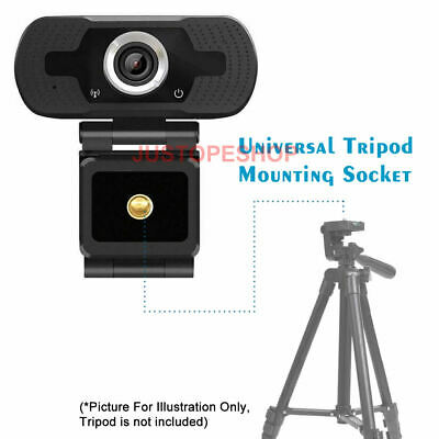 Full HD 1080P Webcam With Microphone USB For PC Desktop Laptop NEW UK Stock 6
