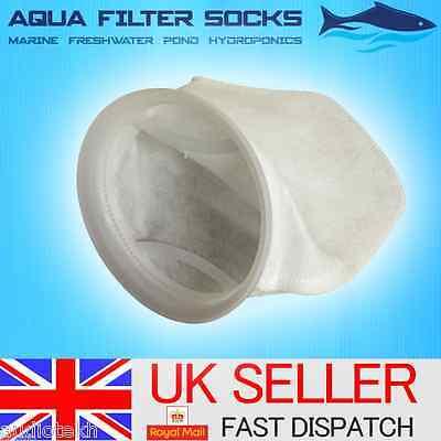 """100/150/200 Micron 7"""" Inch Ring, 15"""" Long Felt Filter Sock Aquarium Marine Sump 2"""