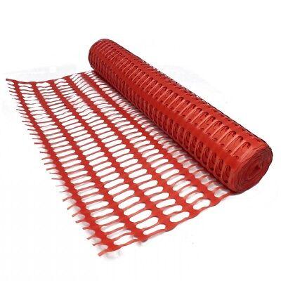 PLASTIC MESH BARRIER SAFETY FENCE Metal Steel Fencing Pins Netting Net Orange 1m 2