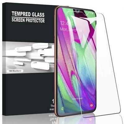 Cover Custodia + Pellicola Vetro Temperato Per Samsung A40 A 40 Trasparente 10