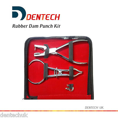 Dental Rubber Dam Set Ainsworth Brewer Frame 10 X Clamps Instruments Kit Ce Uk 2