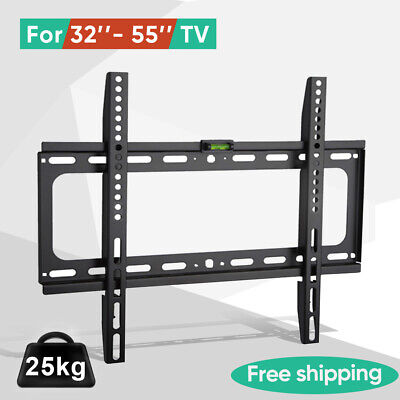 Tilt TV Wall Bracket Mount Flat LED LCD 32 37 42 46 50 52 55 60 65 inch LG Sony 5
