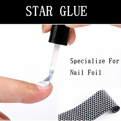 TRANSFER FOIL ADHESIVE NAIL GLUE  Star For Paper White Clear 10ML 2