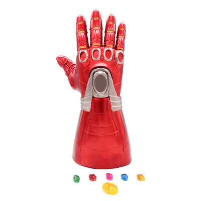 Iron Man Infinity Gauntlet Nano LED Gloves Thanos Avengers 4 Endgame Toys Aults 7