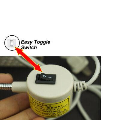 LED Lighting Flexible Gooseneck Arm Work,Magnetic Base for Workbench Lathe Drill 3