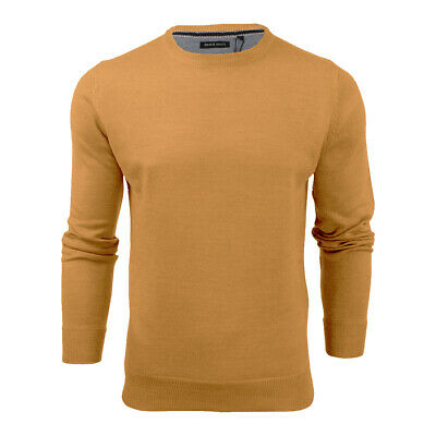 Mens Light Knitted Crew Neck Jumper Sweater Jersey Long Sleeve Brave Soul Parsec 9