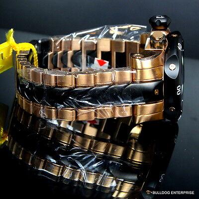 Mens Invicta Reserve Venom Rose Gold Tone Chronograph Swiss Made Black Watch New 6