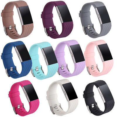 FOR Fitbit CHARGE 2/HR Replacement Silicone Rubber Band Strap Wristband Bracelet 2