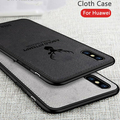 Hybrid Soft TPU Fabric Case Shockproof Cover for iPhone XS MAX/XR X 6s 7 8 Plus 4