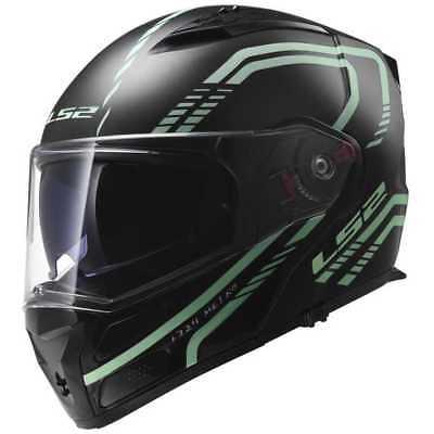 c943268a ... LS2 Metro Firefly Motorcycle Flip Up Front Crash Helmet Sun Visor Matt  Black 2
