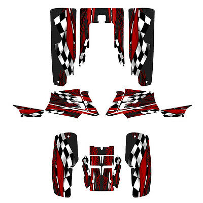 Yamaha Banshee 350 graphics full coverage kit #3500 Red