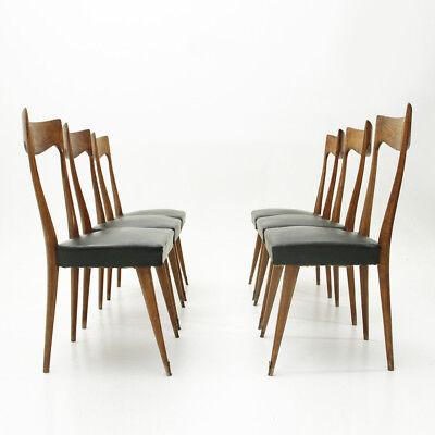 Sedie Legno Anni 50.Sei Sedie Con Schienale In Legno Anni 50 Six Dining Chairs