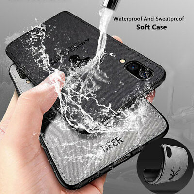 Hybrid Soft TPU Fabric Case Shockproof Cover for iPhone XS MAX/XR X 6s 7 8 Plus 7