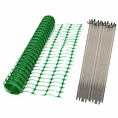 Green Orange Blue Plastic Safety Barrier Mesh Fence Netting Net and Metal Pins 2