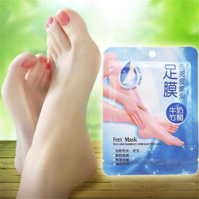 Silky Feet Foot Exfoliation Milky Feet Peel Mask Remove Dead Skin Heel Scrub bb 3