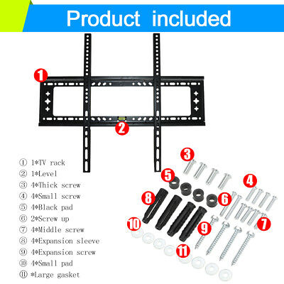 TV Wall Mount Bracket LCD LED Plasma Flat Slim 14 32 40 42 47 50 52 55 60 65 70 2