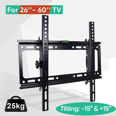 Tilt TV Wall Bracket Mount Flat LED LCD 32 37 42 46 50 52 55 60 65 inch LG Sony 7