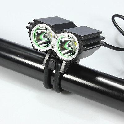 Linterna para bicicleta foco luz recargable de 8000LM 2 x CREE XM-L U2 led 2