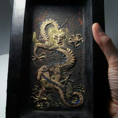 IMPERIAL Chinese Ink Block Cake Black Calligraphy Antique Chinese Ming Qing Dy 4