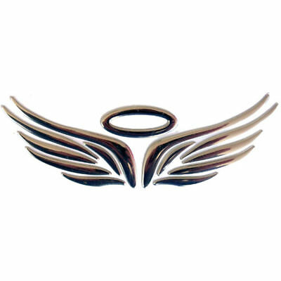 "HALO WINGS Metallic 3D Sticker Emblem 2"" x 6.25"" Car Truck Motorcycle Accessory 2"