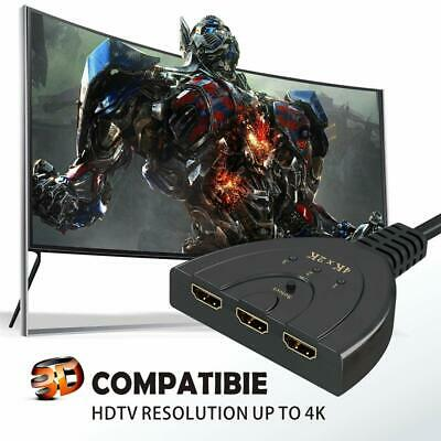 4K Ultra HD 3 Way HDMI Switch Splitter HDTV Auto 3 Port IN 1 OUT Splitter CAN SL 2