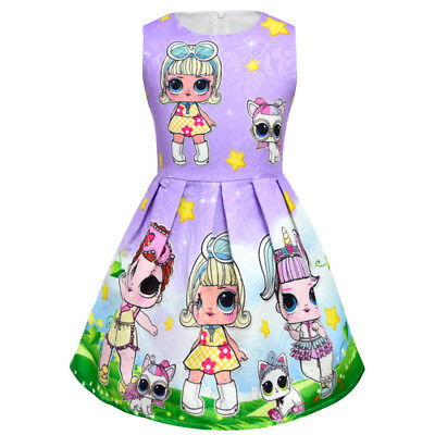 lol surprise dolls Game Girls Dresses Skirts Fancy dress up party gifts 8