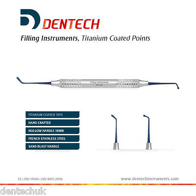 Filling Amalgam Plastic Instruments Dental Hand Composite Titanium Coating *ce*