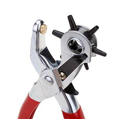 """6 Sized 9"""" Heavy Duty Leather Hole Punch Hand Pliers Belt Holes Punches 5"""