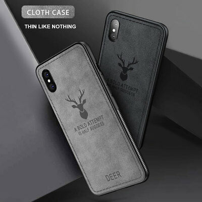 Hybrid Soft TPU Fabric Case Shockproof Cover for iPhone XS MAX/XR X 6s 7 8 Plus 9