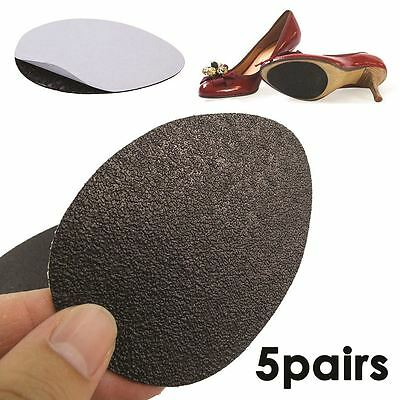 5Pairz of Self-Adhesive Anti-Slip Stick on Shoe Grip Pads Rubber Sole Protectors 2