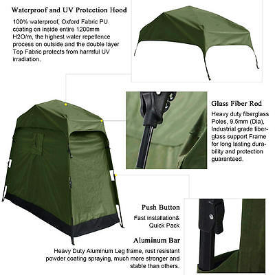 5 of 8 Quictent Heavy Duty Pop Up Bike Tent Storage Shed Quick Setup Garage Outdoor  sc 1 st  PicClick & QUICTENT HEAVY Duty Pop Up Bike Tent Storage Shed Quick Setup ...
