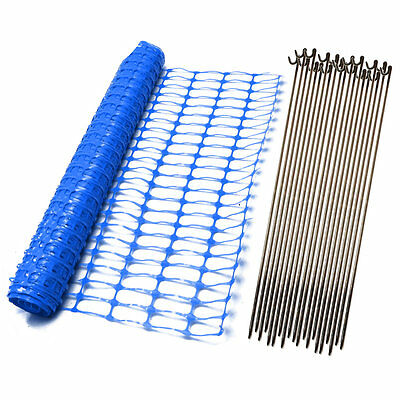 Green Orange Blue Plastic Safety Barrier Mesh Fence Netting Net and Metal Pins 4