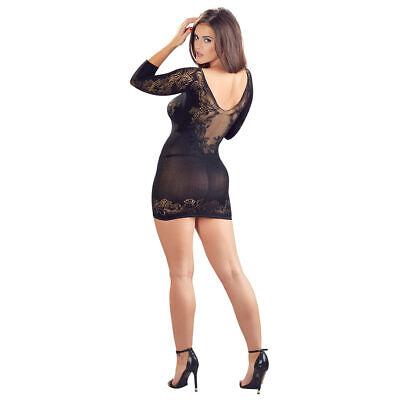 """Damen Kleid Netzkleid S M L 1/2 Arm Spitze String nahtlos Netz Reizwäsche """"Mitzi 7"""