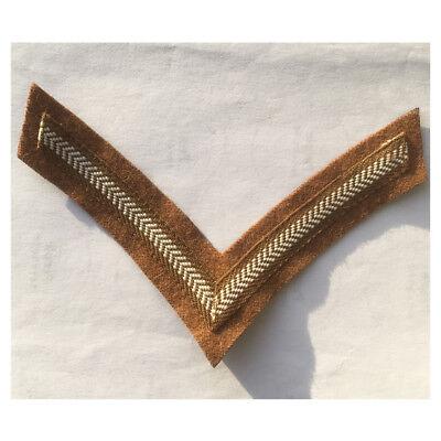 Chevron Genuine Vintage British Khaki Drill Army Rank Lance Corporal  Stripe