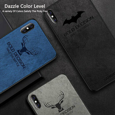 Hybrid Soft TPU Fabric Case Shockproof Cover for iPhone XS MAX/XR X 6s 7 8 Plus 8