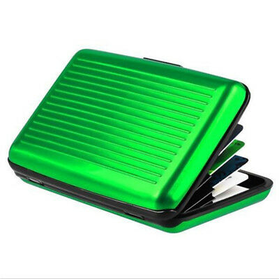 Waterproof Case Box Business ID Credit Card Wallet Holder Aluminum Metal Pocket 5