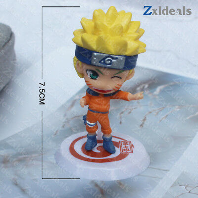 Naruto Mini Figure Dashboard Set Statue Display Toys Model Collection 1pc-12pcs