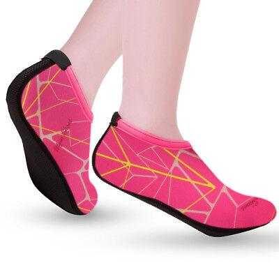 Mens Womens Water Shoes Aqua Socks Beach Swim Wetsuit Shoes Non Slip UK Size 6