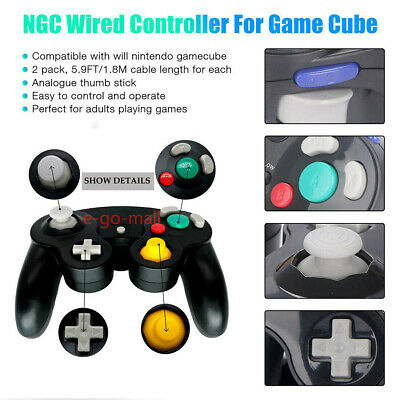 2Pack Wired NGC Controller Gamepad for Nintendo GameCube & Wii U Console Switch 10