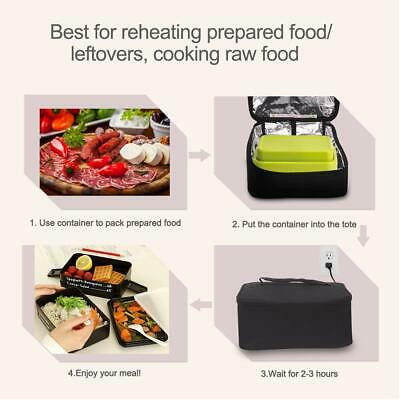 Portable Mini Oven Electric110/12V Insulated Food Warmers Set for Car Microwave 4