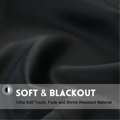 THERMAL BLACKOUT CURTAINS Eyelet Ring Top OR Pencil Pleat FREE Tie backs 6