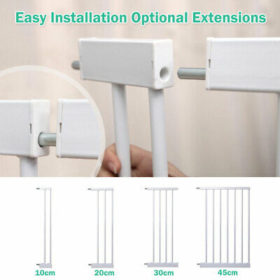Adjustable Baby Pet Child Kid Safety Security Gate Stair Barrier Door Extension 7