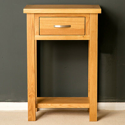 London Oak Small Hall Table / Telephone Table / Solid Wood Console / Light Oak 2