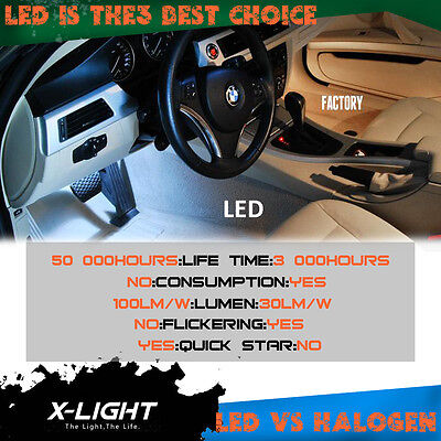 M6 with tools 15pc white LED interior light kit for BMW 6-Series E64 Cabriolet