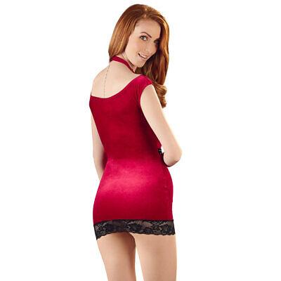 """Sexy Samt Mini-Kleid S M L XL Neckholder Schnalle Samtkleid Party Club """"Karlaä"""" 5"""