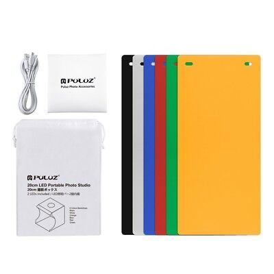 20cm Portable Photography Lighting Tent Kit 6 backdrops with lights Light Box 4