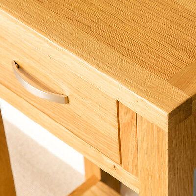 London Oak Small Hall Table / Telephone Table / Solid Wood Console / Light Oak 5