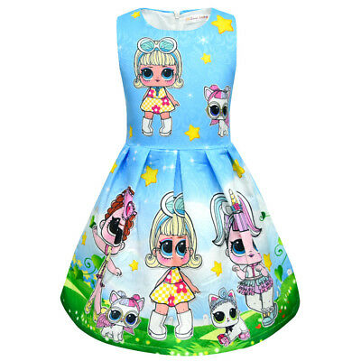 lol surprise dolls Game Girls Dresses Skirts Fancy dress up party gifts 4